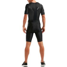 2XU Perform Trisuit Doorlopende Rits Heren, black/black